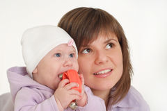 Sister with little baby Stock Photo