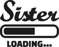 Sister Loading bar. Family vector Stock Photography