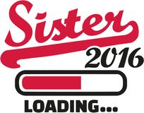 Sister 2016 Loading bar. Vector Royalty Free Stock Photography