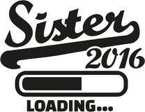 Sister 2016 Loading. Family vector Royalty Free Stock Photos