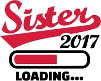 Sister 2017 is loading. Family vector Stock Photo