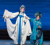 """Sister love-The seventh act Disintegration of families-Kunqu Opera""""Madame White Snake"""". Legend of the White Snake is one of the most famous tales spreading Stock Photo"""