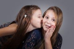 Sister portraits, studio Stock Images