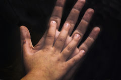 Sister's hands Stock Images