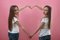 Love sisters royalty free stock images