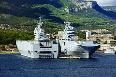 Sister Ships of the French Navy Stock Images
