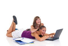 Sister students Stock Image