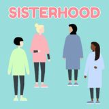 sisterhood Многонациональные женщины гонки diverce r r Установите женских портретов Плоская editable иллюстрация вектора бесплатная иллюстрация