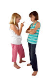 Sisterly Argument Royalty Free Stock Photos