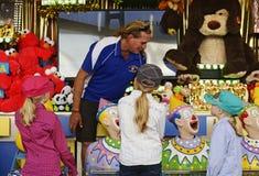 Sisterly fun at the fair Royalty Free Stock Photos