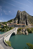 Sisteron bridge Stock Image