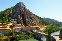 Sisteron charming medieval town in the province Alpes-de-Haute-P Stock Image