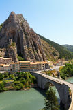 Sisteron charming medieval town in the province Alpes-de-Haute-P Stock Photo