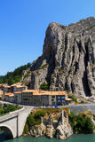 Sisteron charming medieval town in the province Alpes-de-Haute-P. Rovence in France,Europe Stock Image