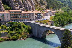 Sisteron charming medieval town in the province Alpes-de-Haute-P. Rovence in France,Europe Royalty Free Stock Photo