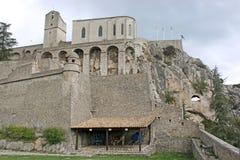 Sisteron Citadel, France Stock Photos
