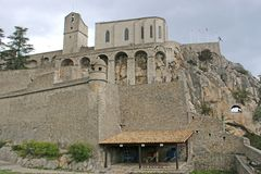 Sisteron Citadel, France Royalty Free Stock Photography