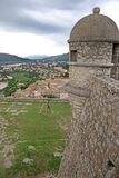Sisteron Citadel, France. Town and citadel in Sisteron, France Stock Images