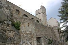 Sisteron Citadel, France. Walls of Sisteron Citadel in the French Alps Royalty Free Stock Photos