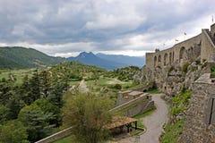 Sisteron Citadel, France. Sisteron citadel in the French Alps Royalty Free Stock Photo