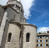 Sisteron, Citadelle and Cathedral Stock Image