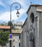 Sisteron, Citadelle and Cathedral Royalty Free Stock Photography
