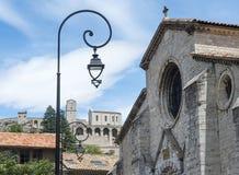 Sisteron, Citadelle and Cathedral. SIsteron (Alpes-de-Haute-Provence, Provence-Alpes-Cote d'Azur, France), the Citadelle and the Cathedral Royalty Free Stock Image