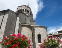 Sisteron, Citadelle e cattedrale Immagini Stock Libere da Diritti