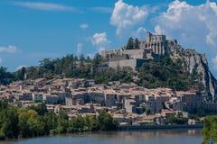 Sisteron is een commune in de afdeling van Alpes-De-Haute-Provence royalty-vrije stock foto's