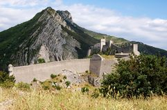 Sisteron fortress, France Royalty Free Stock Photography