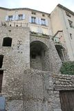 Sisteron, France. Houses on the city wall of Sisteron, France Stock Photos
