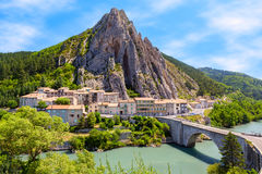 Sisteron in Provence, France Stock Photography