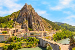 Sisteron in Provence, France Stock Photos
