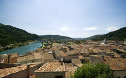 Sisteron rooftops Royalty Free Stock Images