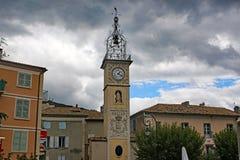 Clock Tower, Sisteron Stock Photo