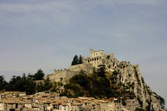Sisteron view Stock Photo