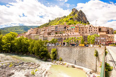 Sisteron village in France Stock Photo