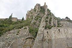 Sisteron-Zitadelle, Frankreich stockbilder