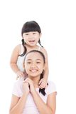 Sisters� happiness Royalty Free Stock Image