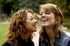 Sisters. Laughing sisters Royalty Free Stock Images