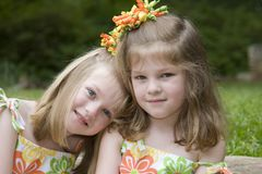 Sisters. Twin Sisters Stock Photo
