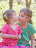 Sisters. Showing Affection for Each Other Stock Photo