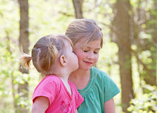 Sisters. Showing Affection for Each Other Stock Images