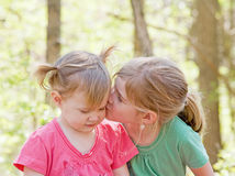 Sisters. Showing Affection for Each Other Royalty Free Stock Image