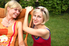 Sisters. A beautiful  women Stock Images