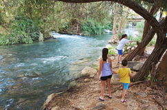 Sisters and Brother on the Jordan River Stock Photo