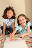 Sisters coloring Stock Photo