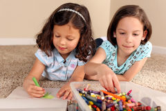 Sisters coloring Stock Images