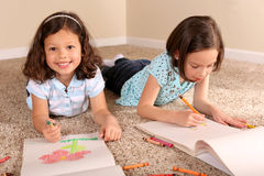 Sisters coloring Stock Photos
