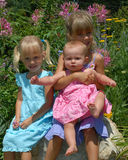 Sisters in Dresses royalty free stock photo